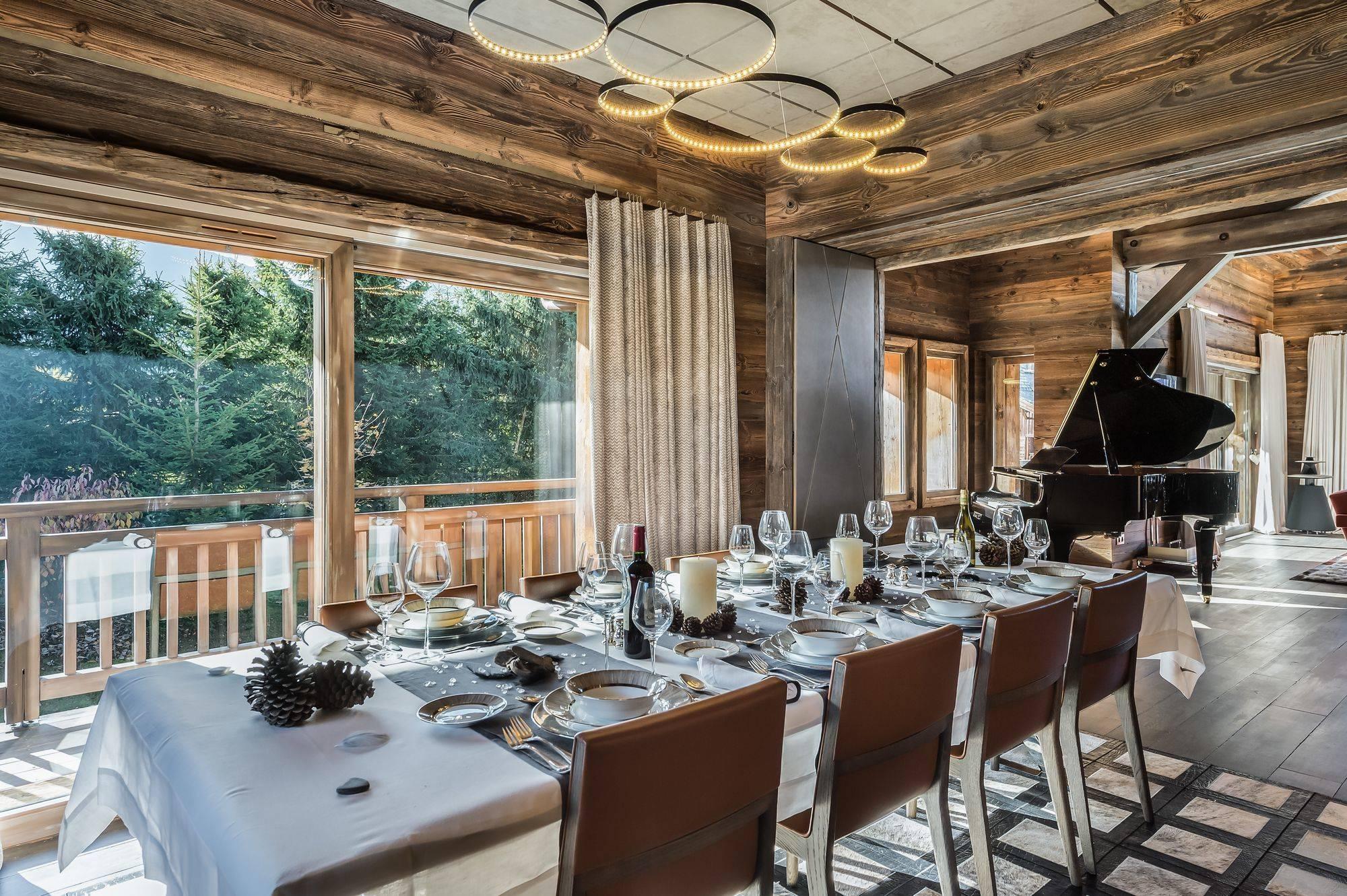 Lovelydays luxury service apartment rental - Megève - Senses Chalet - Partner - 6 bedrooms - 6 bathrooms - Dining living room - 005417110a2d - Lovelydays