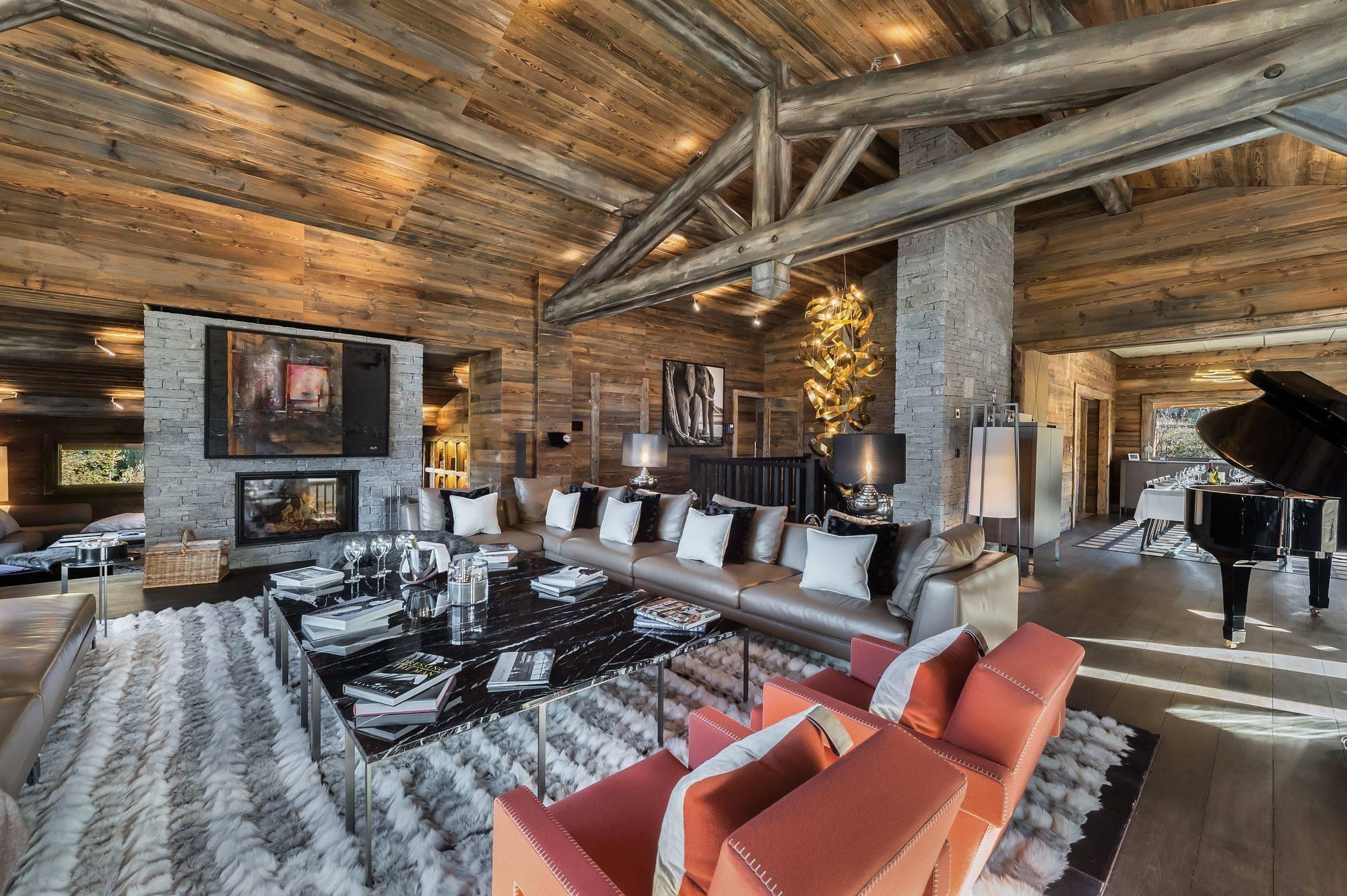Lovelydays luxury service apartment rental - Megève - Senses Chalet - Partner - 6 bedrooms - 6 bathrooms - Luxury living room - 7b34a20ac437 - Lovelydays
