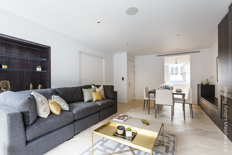 Lovelydays luxury service apartment rental - London - Fitzrovia - Goodge street - Lovelysuite - 2 bedrooms - 2 bathrooms - Luxury living room - cf27070f43f8 - Lovelydays