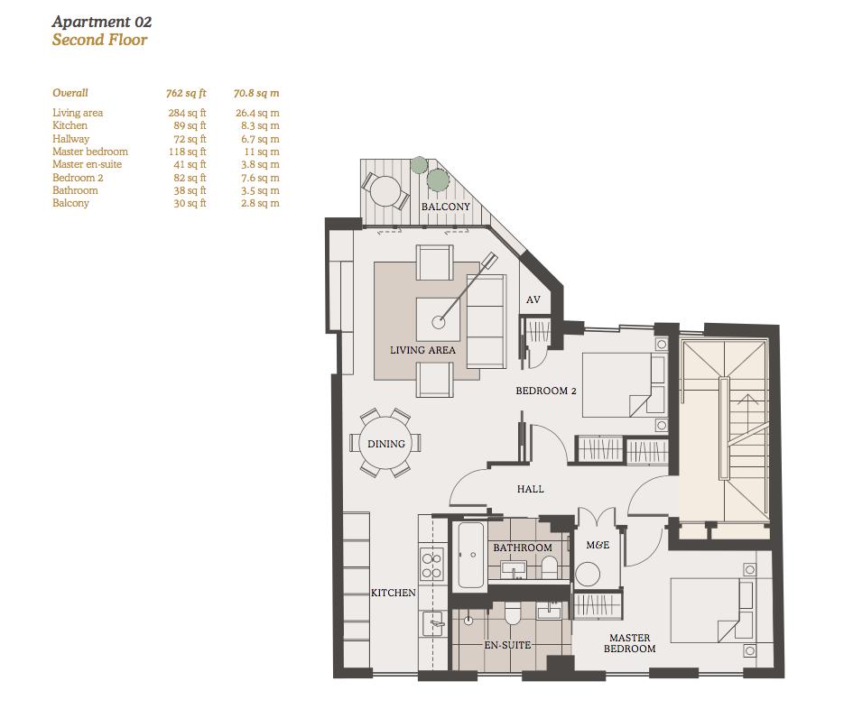 Lovelydays luxury service apartment rental - London - Fitzrovia - Goodge street II - Lovelysuite - 2 bedrooms - 2 bathrooms - Design - a9037ad1b372 - Lovelydays