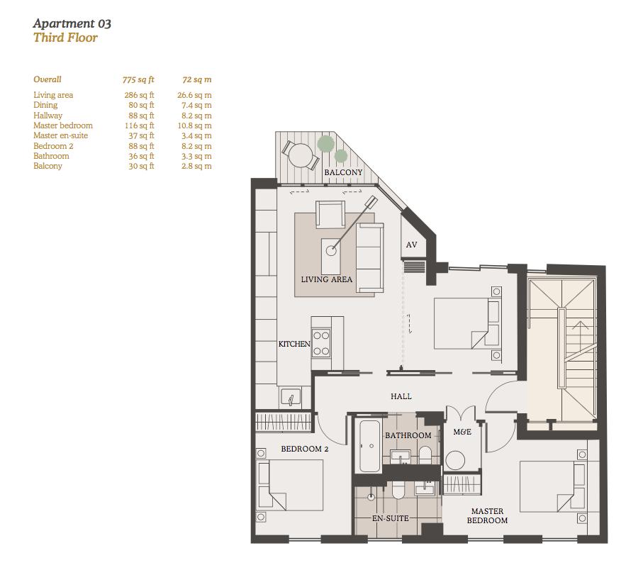 Lovelydays luxury service apartment rental - London - Fitzrovia - Goodge street III - Lovelysuite - 3 bedrooms - 2 bathrooms - Design - 72001b2bdc4f - Lovelydays