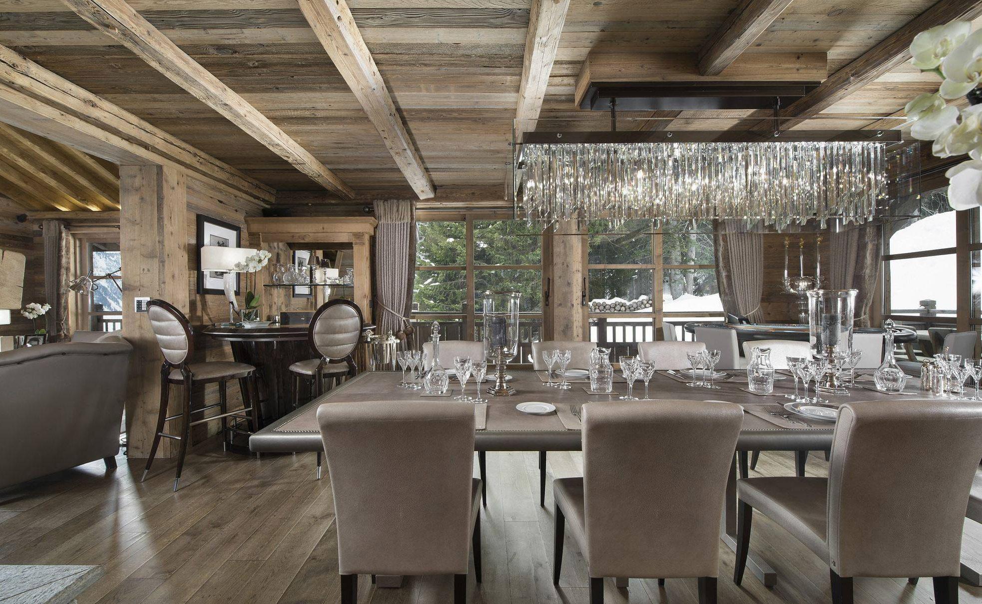Lovelydays luxury service apartment rental - Courchevel - Great Roc Chalet - Partner - 7 bedrooms - 6 bathrooms - Dining living room - 809cde5c7bb1 - Lovelydays