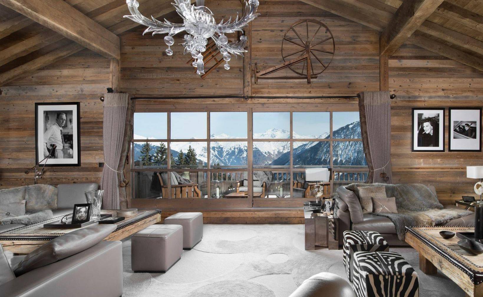 Lovelydays luxury service apartment rental - Courchevel - Great Roc Chalet - Partner - 7 bedrooms - 6 bathrooms - Luxury living room - 55c189aec416 - Lovelydays