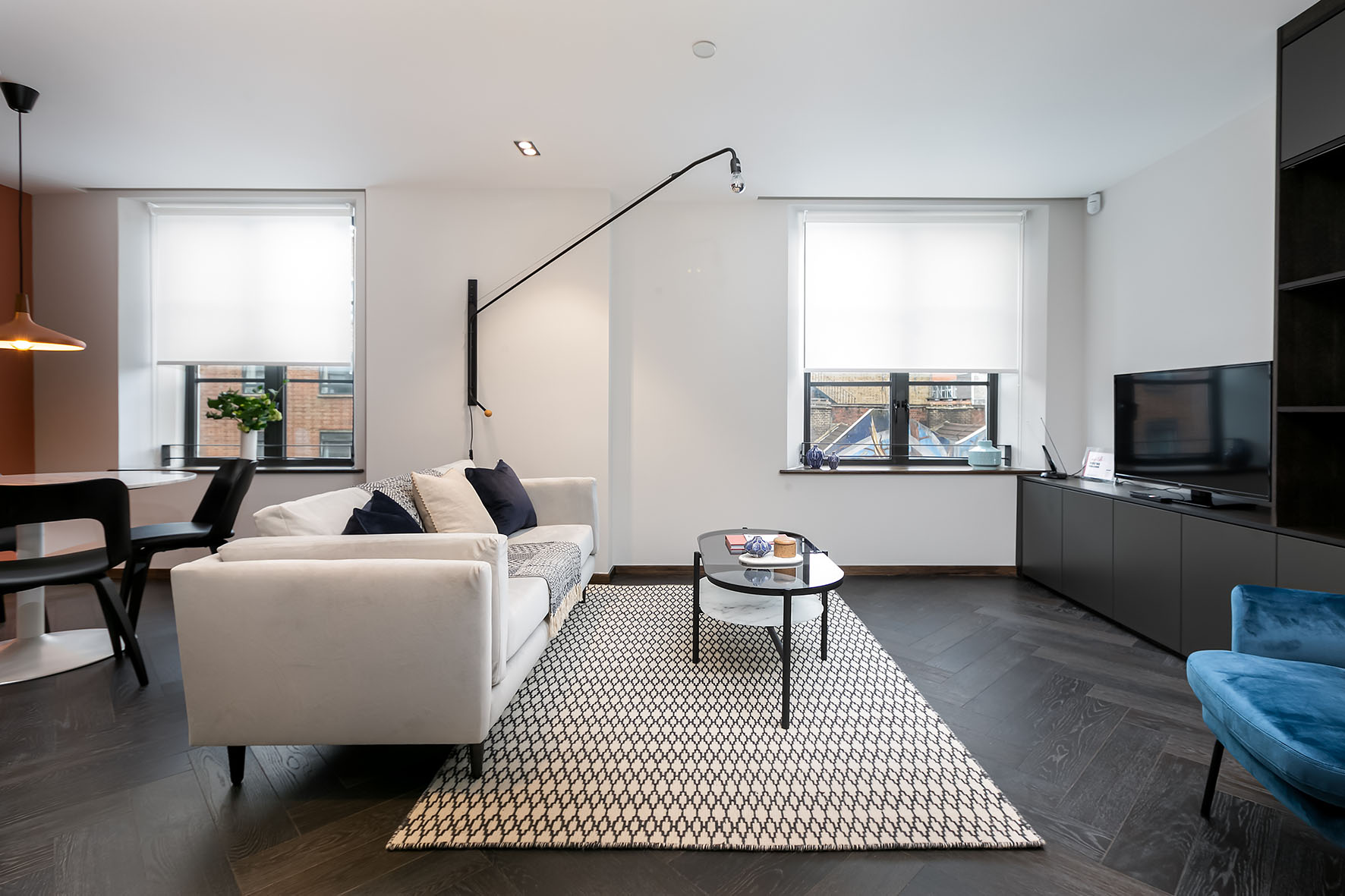 Lovelydays luxury service apartment rental - London - Soho - Noel Street VII - Lovelysuite - 1 bedrooms - 1 bathrooms - Luxury living room - 68b042a49ba1 - Lovelydays