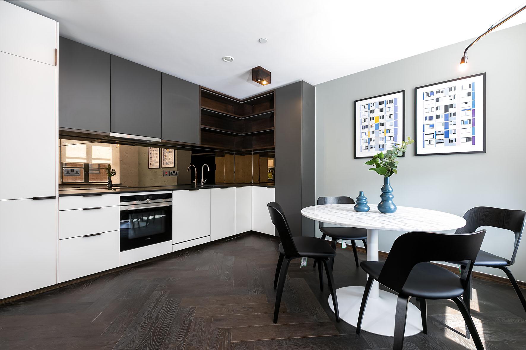 Lovelydays luxury service apartment rental - London - Soho - Oxford Street V - Lovelysuite - 1 bedrooms - 1 bathrooms - Luxury kitchen - 4716c054f383 - Lovelydays