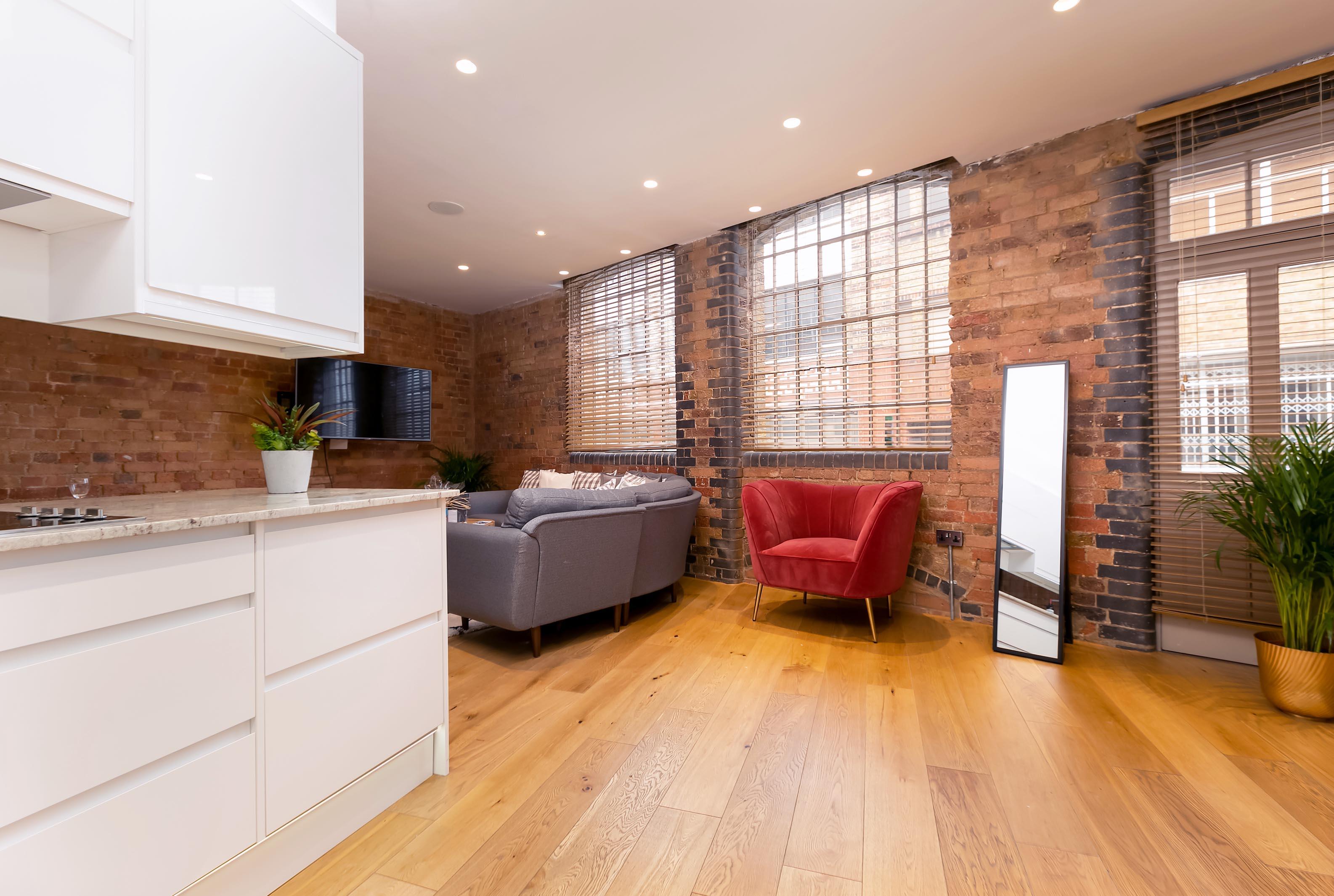 Lovelydays luxury service apartment rental - London - Fitzrovia - Wells Mews B - Lovelysuite - 2 bedrooms - 2 bathrooms - Luxury kitchen - 21b9896a6f8f - Lovelydays