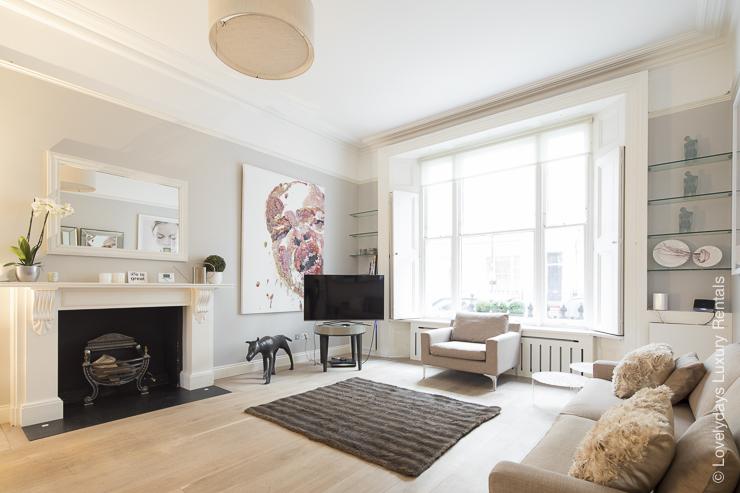 Lovelydays luxury service apartment rental - London - Notting Hill - Clanricarde II - Lovelysuite - 2 bedrooms - 2 bathrooms - Luxury living room - 082269ca9f24 - Lovelydays