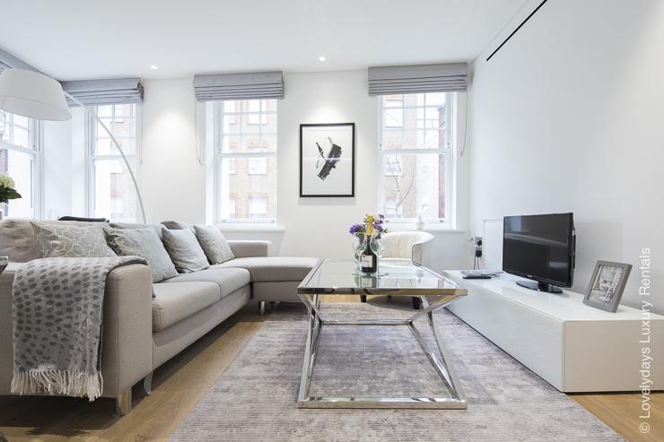 Lovelydays luxury service apartment rental - London - Soho - Romilly Street - Lovelysuite - 2 bedrooms - 2 bathrooms - Luxury living room - 74b2c23b9a5d - Lovelydays
