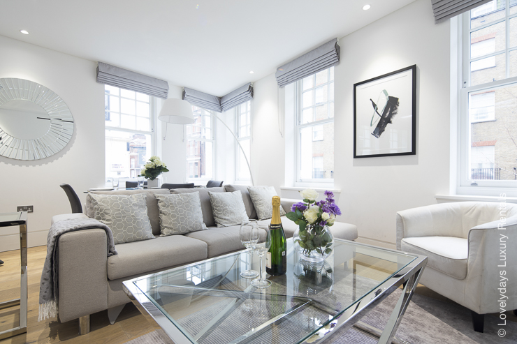 Lovelydays luxury service apartment rental - London - Soho - Romilly Street - Lovelysuite - 2 bedrooms - 2 bathrooms - Luxury living room - 93949fd721d0 - Lovelydays