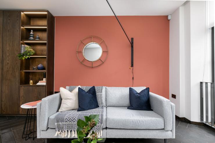 Lovelydays luxury service apartment rental - London - Soho - Berwick Street III - Lovelysuite - 1 bedrooms - 1 bathrooms - Luxury living room - 0c6ee0e13c0a - Lovelydays