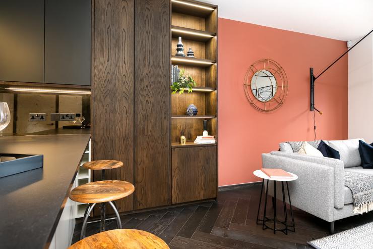 Lovelydays luxury service apartment rental - London - Soho - Berwick Street III - Lovelysuite - 1 bedrooms - 1 bathrooms - Luxury living room - ab1cc1f4682c - Lovelydays