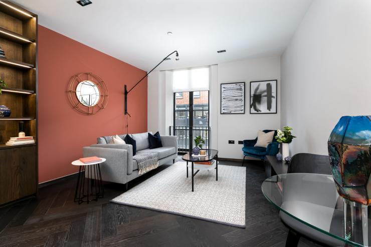 Lovelydays luxury service apartment rental - London - Soho - Berwick Street III - Lovelysuite - 1 bedrooms - 1 bathrooms - Luxury living room - d157ac62bf0c - Lovelydays