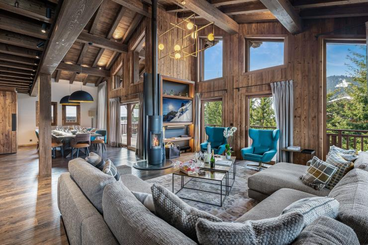 Lovelydays luxury service apartment rental - Megève - Deity Chalet - Partner - 5 bedrooms - 5 bathrooms - Luxury living room - 03081d899ca1 - Lovelydays
