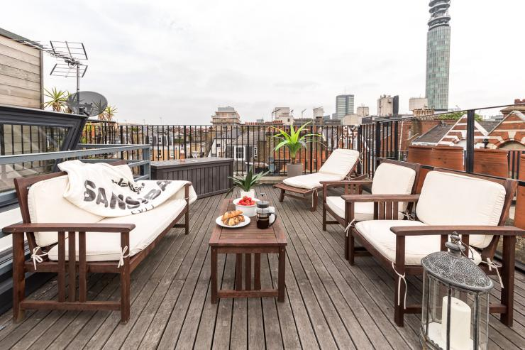 Lovelydays luxury service apartment rental - London - Fitzrovia - Foley Street II - Lovelysuite - 2 bedrooms - 2 bathrooms - Roof top central London - bea05b6ba005 - Lovelydays