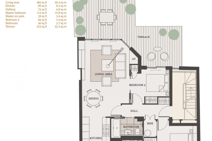 Lovelydays luxury service apartment rental - London - Fitzrovia - Goodge street - Lovelysuite - 2 bedrooms - 2 bathrooms - Design - a34789a105da - Lovelydays