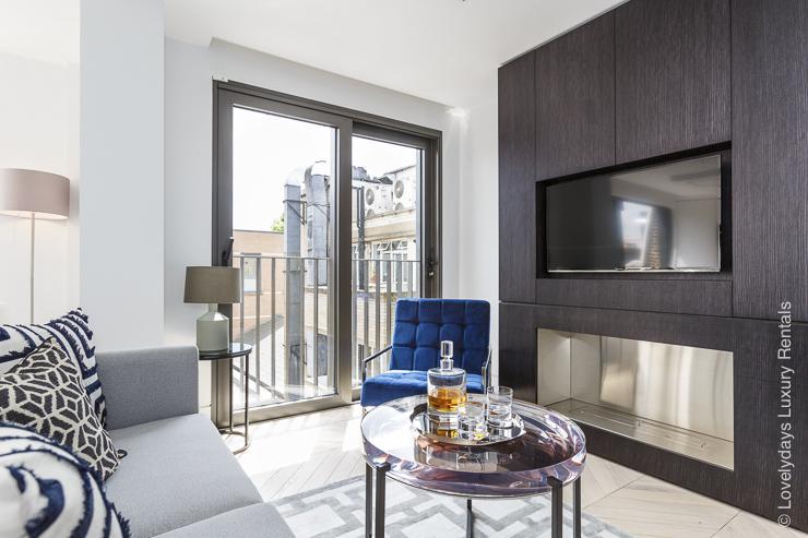 Lovelydays luxury service apartment rental - London - Fitzrovia - Goodge street IV - Lovelysuite - 2 bedrooms - 2 bathrooms - Luxury living room - 3e0c1cc5449a - Lovelydays