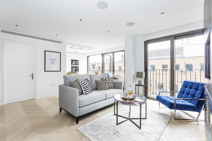 Lovelydays luxury service apartment rental - London - Fitzrovia - Newman Street IV - Lovelysuite - 2 bedrooms - 2 bathrooms - Luxury living room - 5star serviced apartments london - 884b1d915ed7 - Lovelydays