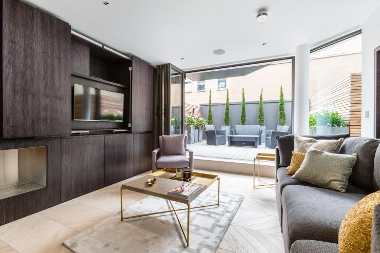 Lovelydays luxury service apartment rental - London - Fitzrovia - Goodge street - Lovelysuite - 2 bedrooms - 2 bathrooms - Luxury living room - 90fbf2ab30eb - Lovelydays