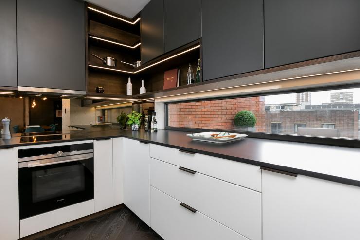 Lovelydays luxury service apartment rental - London - Soho - Great Marlborough St. IX - Lovelysuite - 2 bedrooms - 2 bathrooms - Luxury kitchen - 5565645a23d9 - Lovelydays