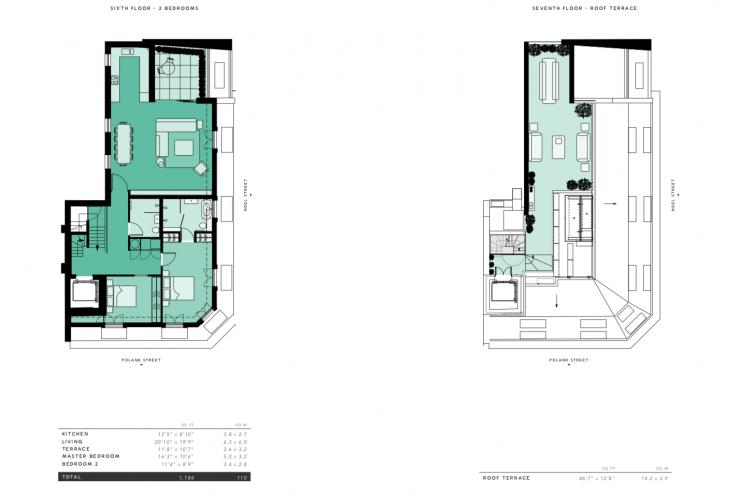 Lovelydays luxury service apartment rental - London - Soho - Great Marlborough St. IX - Lovelysuite - 2 bedrooms - 2 bathrooms - Floorplan - 2f6d54d824b6 - Lovelydays