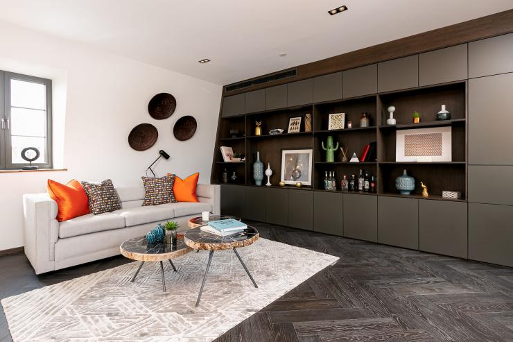 Lovelydays luxury service apartment rental - London - Soho - Great Marlborough St. IX - Lovelysuite - 2 bedrooms - 2 bathrooms - Luxury living room - bb8e9b36295b - Lovelydays